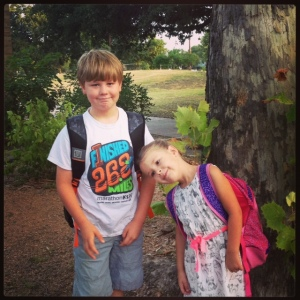 These nuggets started school today.